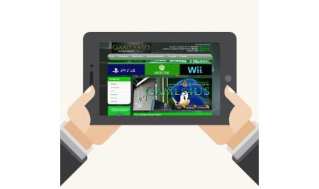 Projekt i wykonanie szablonu aukcji Allegro z grami i kosolami PS3, PS4, XBOX One, Wii