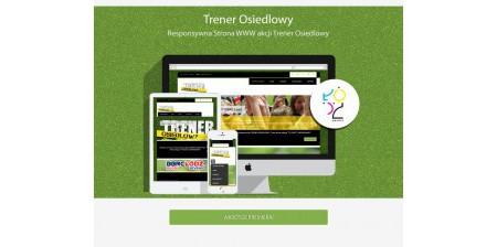 TrenerOsiedlowy.org - strona internetowa w wersji responsywnej dla akcji BBRC Łódź
