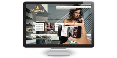 Strona www, katalog prodktów i sklep internetowy dla producenta bielizny damskiej Konrad